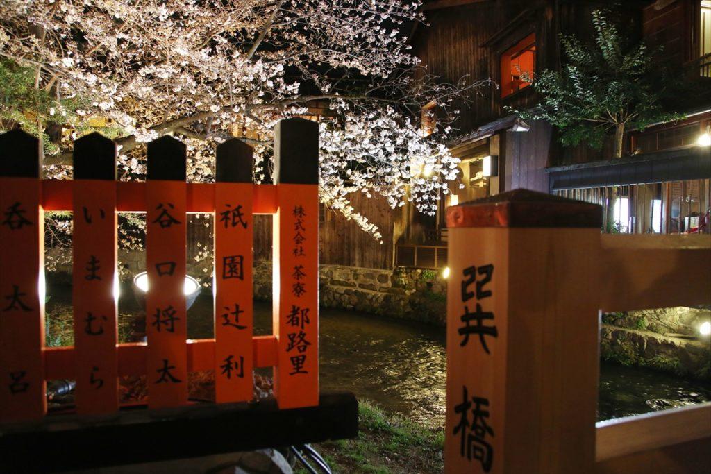 祇園白川さくらライトアップ