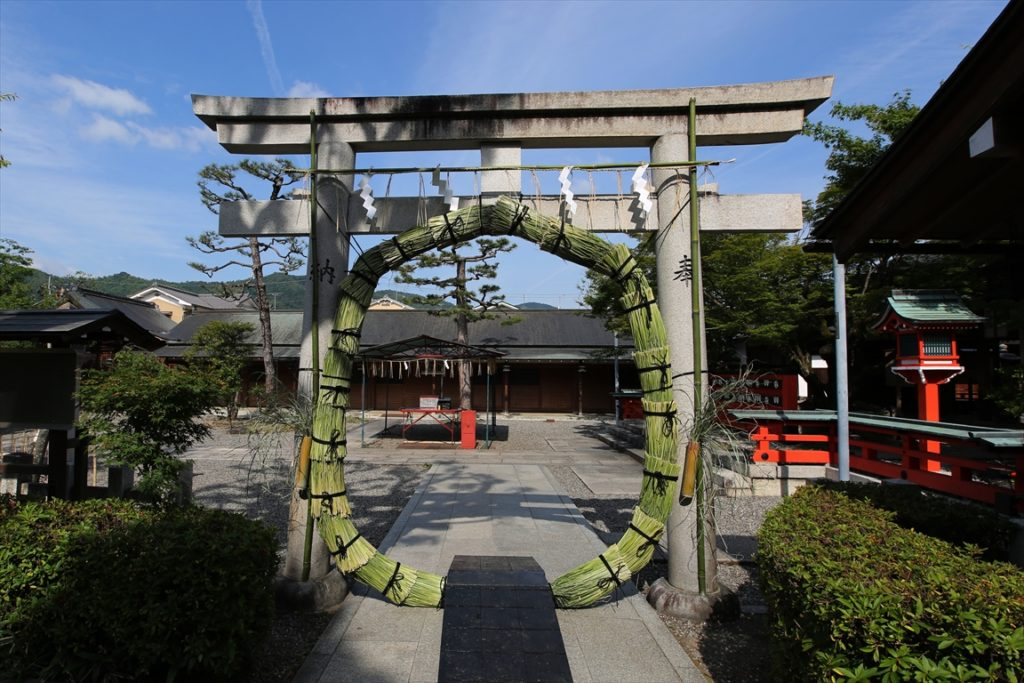 車折神社 茅の輪