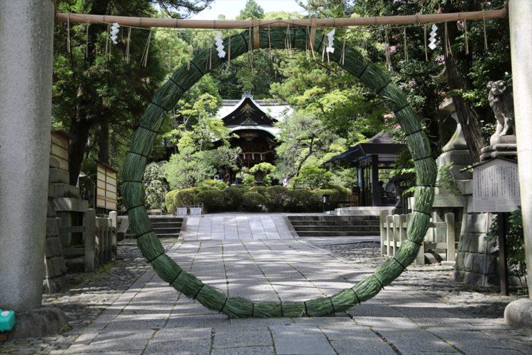岡崎神社 茅の輪